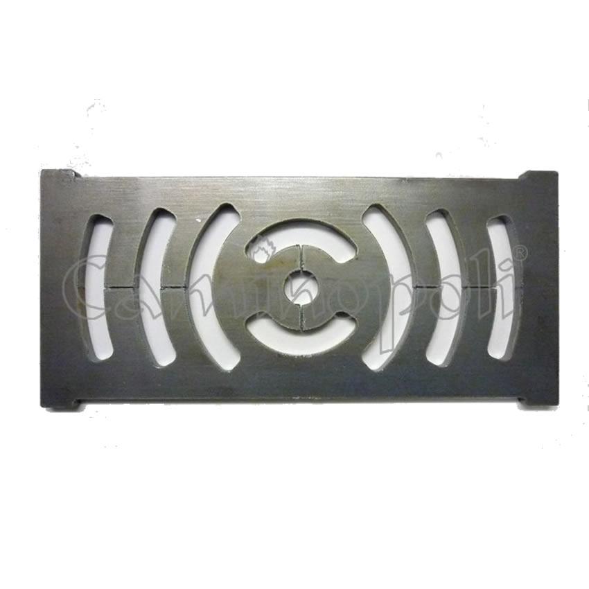 Griglia Cenere in Acciaio 140x305x12 mm