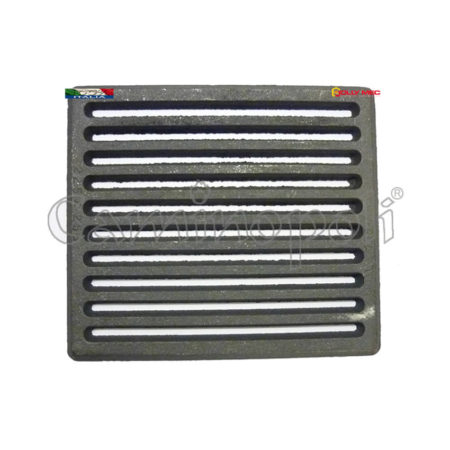 Griglia Cenere Quadrata in Ghisa 225×225 mm