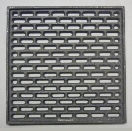 Griglia Quadrata Cenere in Ghisa 250x250x9 mm
