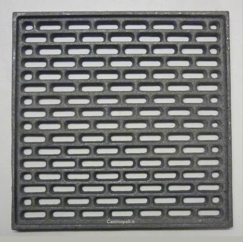 Griglia Quadrata Cenere in Ghisa 150x150x9 mm